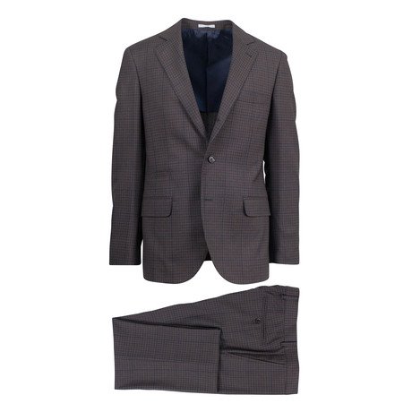 Favazza Wool Blend Suit // Brown (Euro: 46)