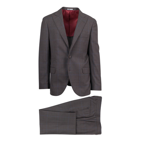Tristano Wool Blend Suit // Brown (Euro: 46)