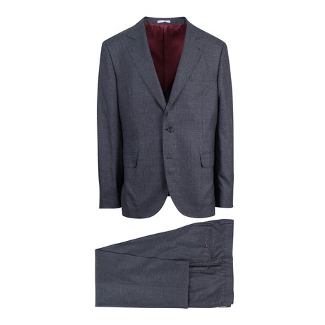 Check Cashmere Blend 3 Roll 2 Suit // Gray (Euro: 46)