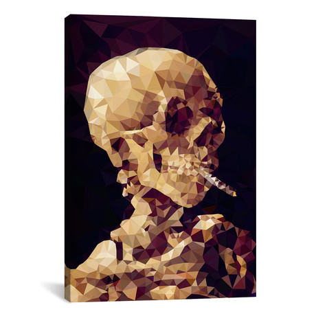 "Smoking Skull Derezzed // 5by5collective (18""W x 26""H x 0.75""D)"