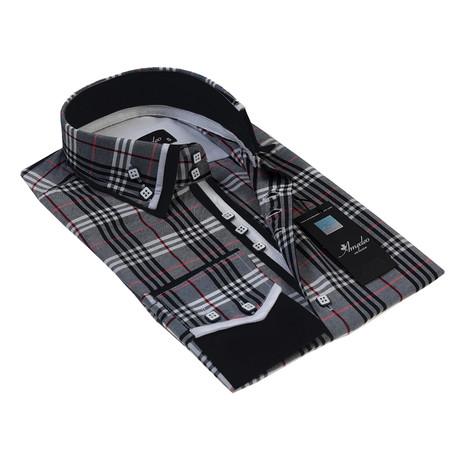 Reversible Cuff Button-Down Shirt // Gray Check (S)
