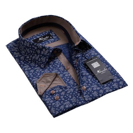 Reversible Cuff Button-Down Shirt // Tropical Navy Blue (S)
