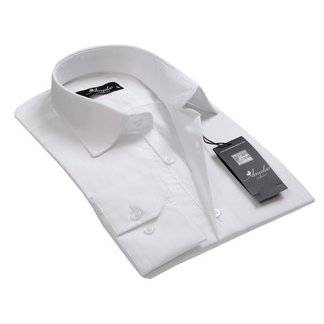 Reversible Cuff Button-Down Shirt // Solid White (S)