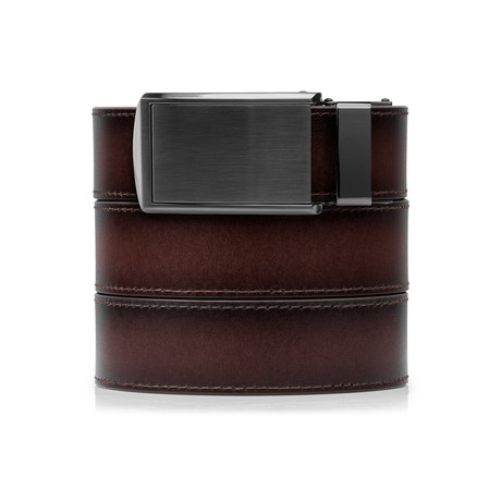 Full Grain (Full Grain Cognac + Bar-striped Buckle)