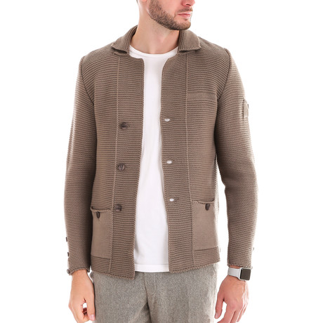Textured Wool Jacket // Cappuccino (M)