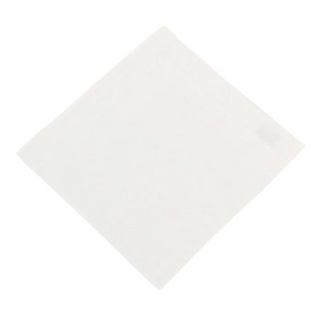 Brioni // Cotton Pocket Square // White