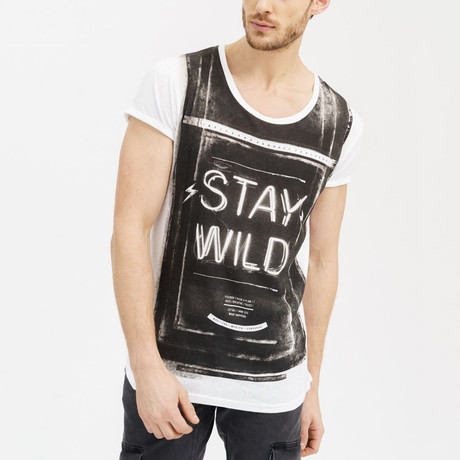 Stay Wild T-Shirt // White (Small)
