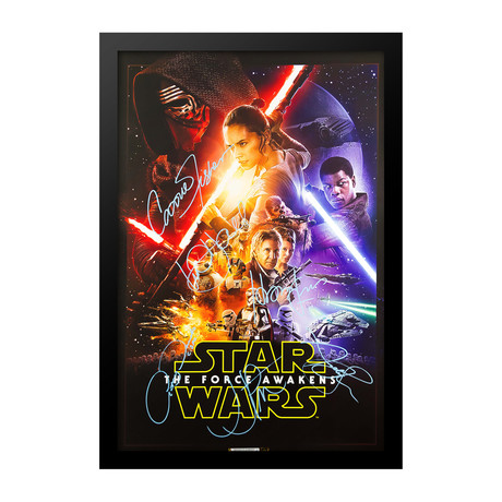 Signed Movie Poster // Star Wars Episode VII - The Force Awakens