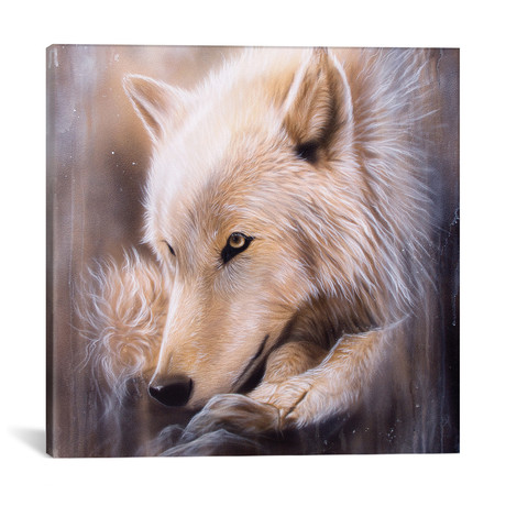 "Dreamscape Wolf I (18""W x 18""H x 0.75""D)"