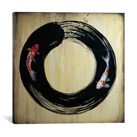 "Enso With Koi (18""W x 18""H x 0.75""D)"