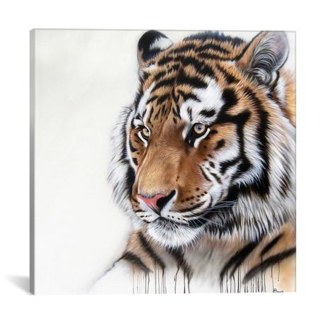"""Tiger Portrait I (18""""W x 18""""H x 0.75""""D)"""