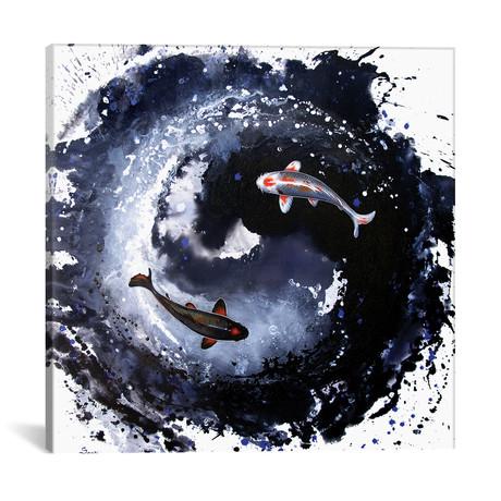 "Yin Yang // Sandi Baker (12""W x 12""H x 0.75""D)"