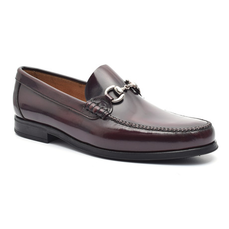 Patent Loafer + Ornate Buckle // Bordeaux (Euro: 38)