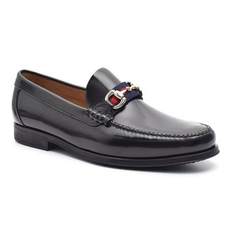 Patent Loafer + Ornate Buckle II // Black (Euro: 38)