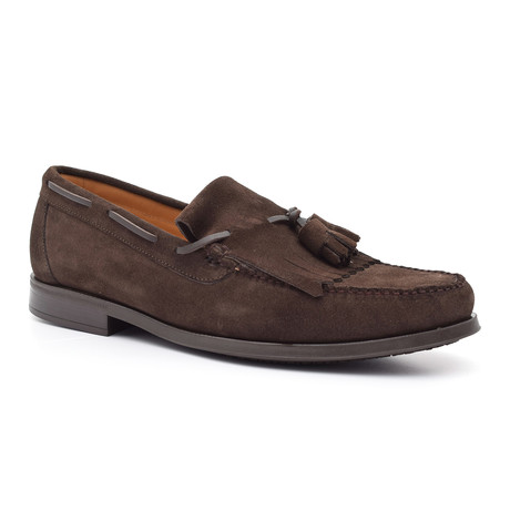 Suede Tassel Loafer II // Brown (Euro: 38)