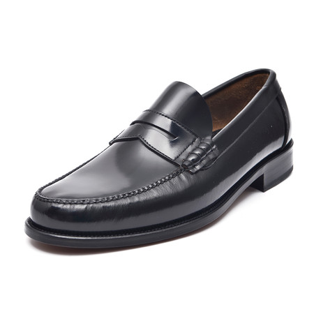 Patent Slit-Strap Loafer // Black (Euro: 38)