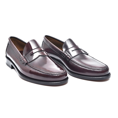Patent Slit-Strap Loafer // Bordeaux (Euro: 38)