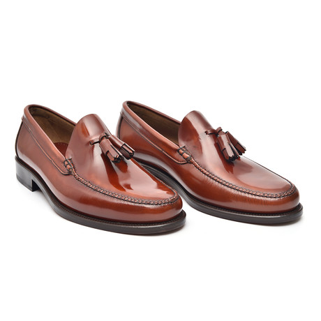 Patent Tassel Loafer // Cognac + Leather (Euro: 38)