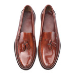 Patent Tassel Loafer // Cognac + Leather (Euro: 45)