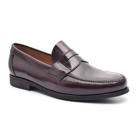 Patent Slit-Strap Loafer // Deep Bordeaux (Euro: 38)