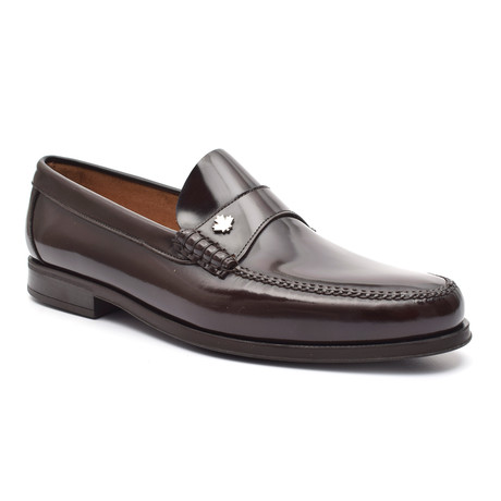 Leather Ornament Loafer // Brown (Euro: 38)