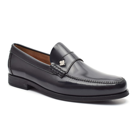 Leather Ornament Loafer // Blue (Euro: 38)