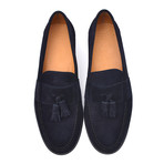 Suede Leather Loafer // Blue (Euro: 42)