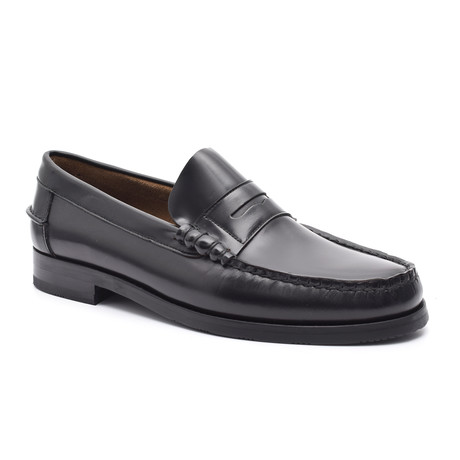 Slit-Strap Loafer II // Black (Euro: 38)