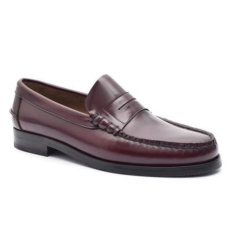 Slit-Strap Loafer // Bordeaux (Euro: 38)