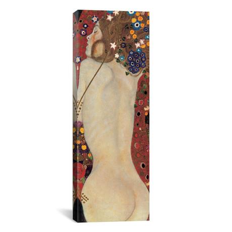 """Sea Serpents, Detail V // Gustav Klimt (20""""W x 60""""H x 0.75""""D)"""
