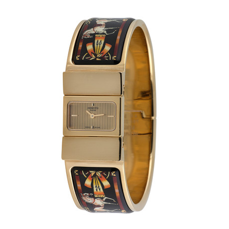 Hermes Loquet Bangle Horse Quartz // L01.201 // Pre-Owned