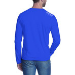 Crewneck Long Sleeve T-Shirt // Blue (2XL)