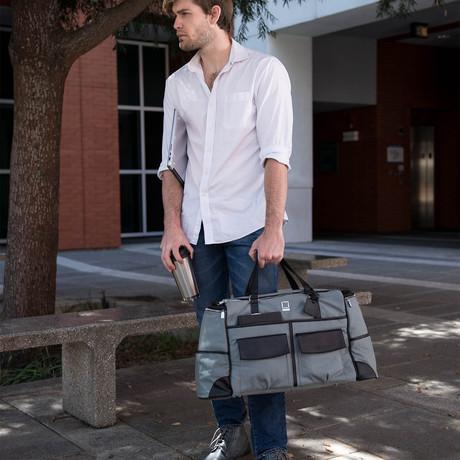 Alpaque Duffel Laptop Bag // Grey + Black