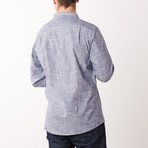 Crosshatch Fog Shirt // Light Gray (S)