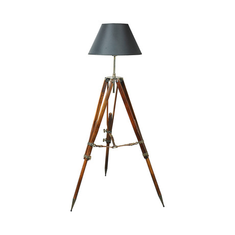 Campaign Tripod Lamp (Black Shade)