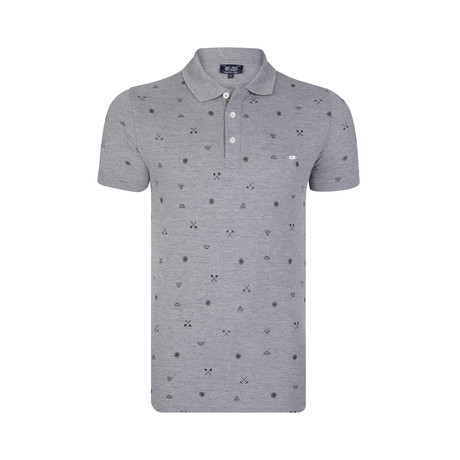 Margaux SS Polo Shirt // Grey Melange (S)