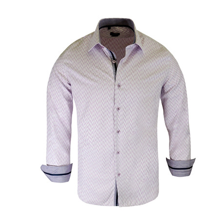 Deon True Modern-Fit Long-Sleeve Dress Shirt // Lavender (2XL)