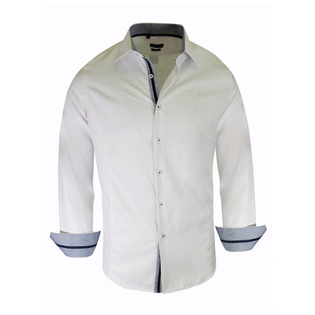 Deon True Modern-Fit Long-Sleeve Dress Shirt // White (S)
