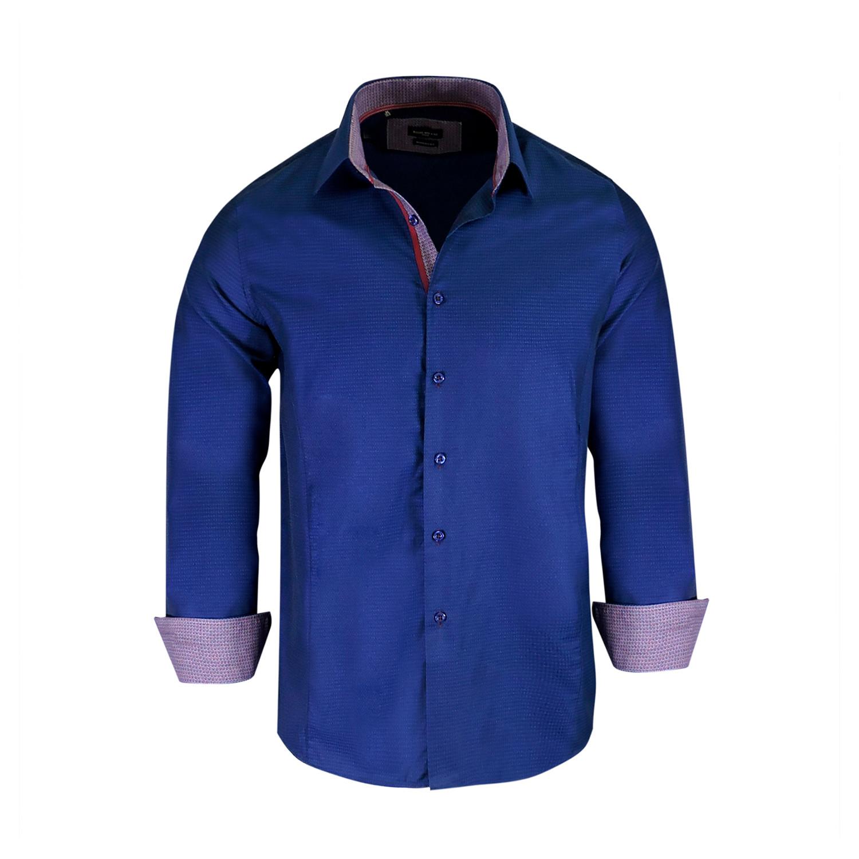 Raymon True Modern Fit Long Sleeve Dress Shirt Royal S Rosso
