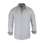 Martin True Modern-Fit Long-Sleeve Dress Shirt // White + Black (M)