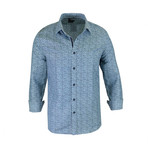 Marc True Modern-Fit Long-Sleeve Dress Shirt // Blue (M)
