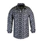 Dallas True Modern-Fit Long-Sleeve Dress Shirt // Black (L)
