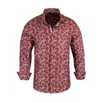 Dallas True Modern-Fit Long-Sleeve Dress Shirt // Burgundy (S)