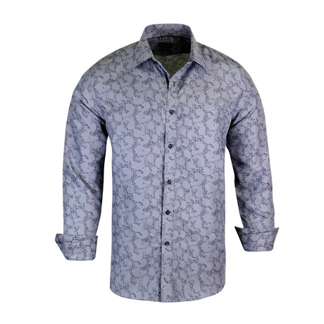 Dallas True Modern-Fit Long-Sleeve Dress Shirt // Gray (S)