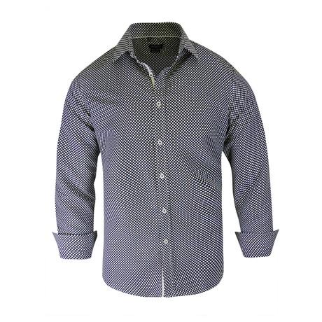 Andre True Modern-Fit Long-Sleeve Dress Shirt // Black (S)