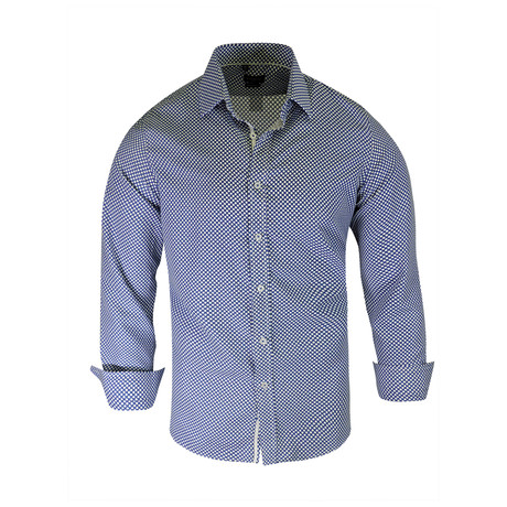 Andre True Modern-Fit Long-Sleeve Dress Shirt // Royal (S)