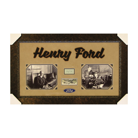 Henry Ford // Original Ink Signature