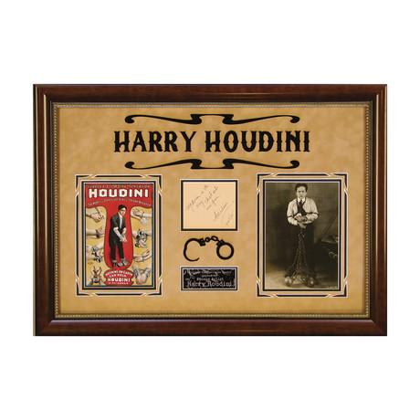Harry Houdini // Original Ink Signature