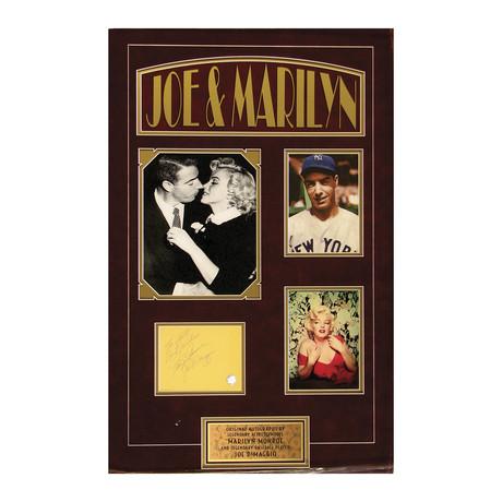 Joe DiMaggio + Marilyn Monroe // Double Autograph