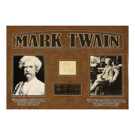 Mark Twain // Original Ink Signature